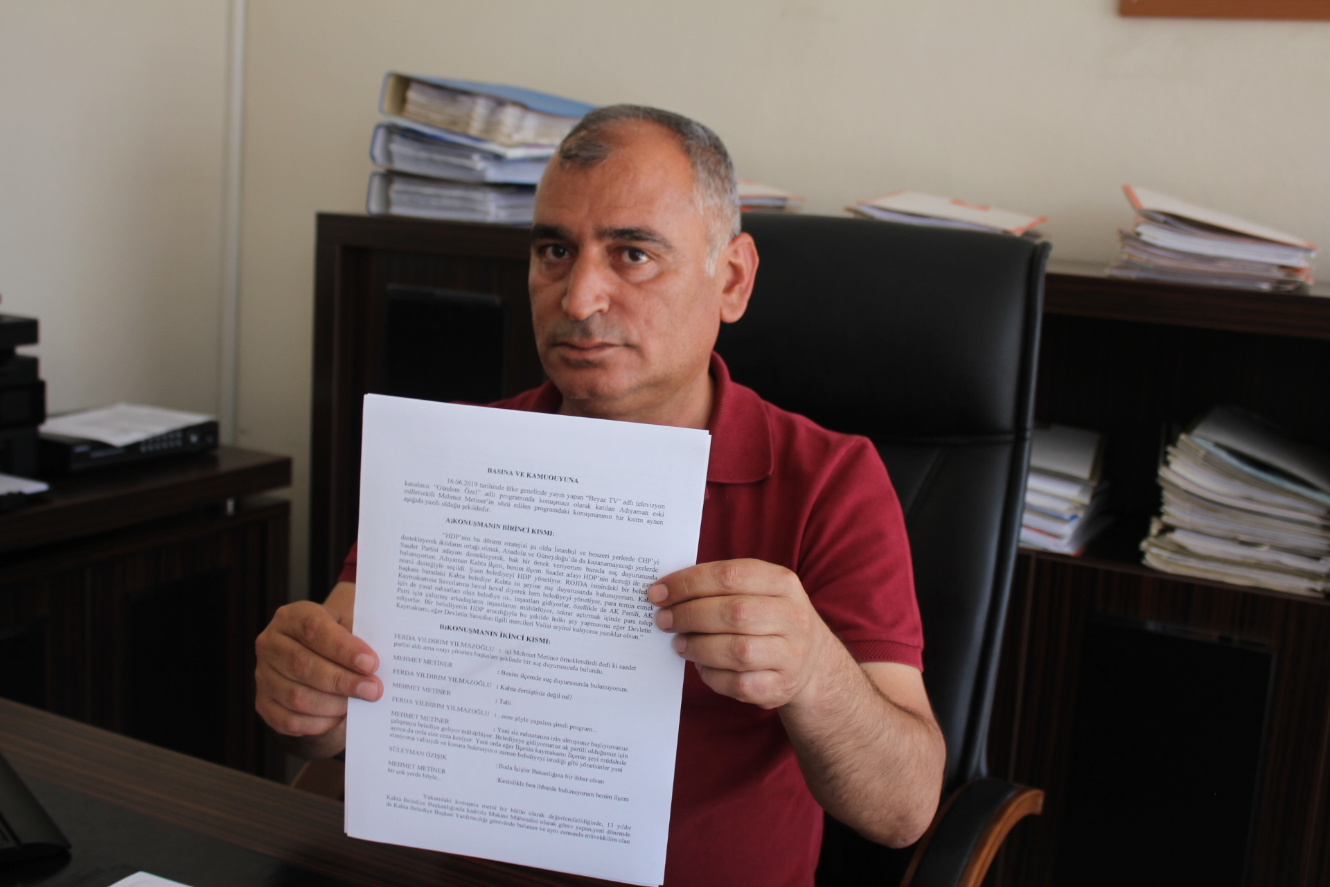Turanlı'dan AK Partili Metiner'e Suç Duyurusu