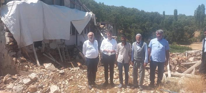 Milletvekili Tutdere, depremzede aileyi ziyaret etti