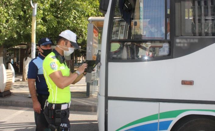 Adıyaman'da Minibüs ve otobüslerde korona denetimi