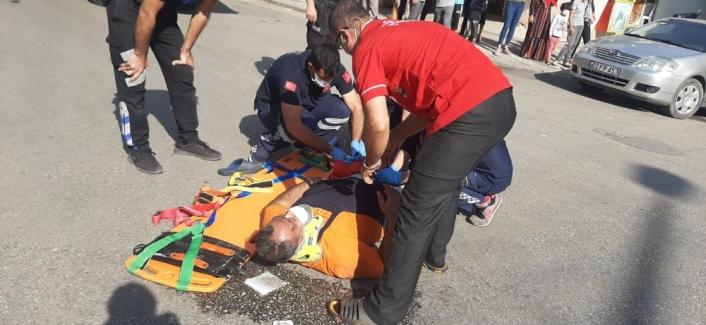 Adıyaman'da Motosiklet ile kamyon çarpıştı: 1 yaralı