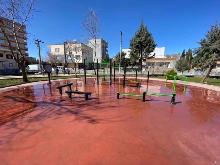 Necmettin Erbakan Parkına yeni fitness aletleri alındı