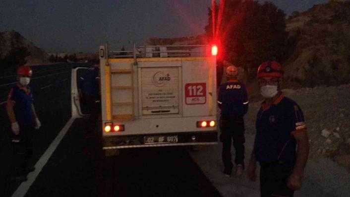 Otomobil devrildi ihbarı ekipleri harekete geçirdi