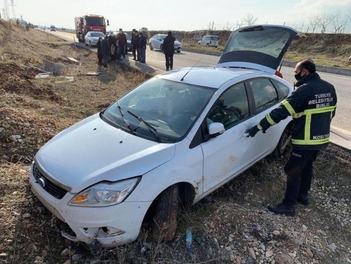 Otomobil şarampole girdi: 2 yaralı