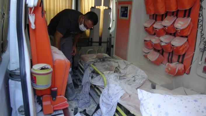 Adıyaman'da Özel hastanenin ambulansında yanan kadın öldü