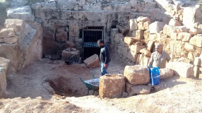 Perre´de kazılar mozaikli alanda devam ediyor