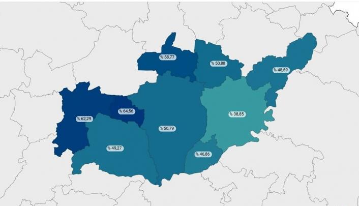 Tut ilçesinde aşılama oranı Türkiye ortalamasının üzerine çıktı