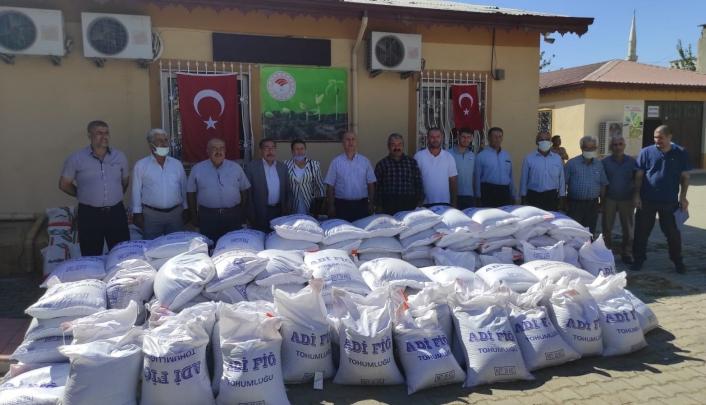 Üreticilere yem bitkisi tohumu dağıtıldı