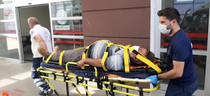 Adıyaman'da Yüksekten düşen işçi yaralandı