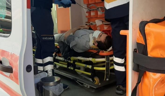 Adıyaman'da Yüksekten düşen şahıs hastanelik oldu